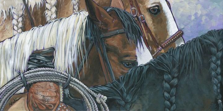 """Braids"" original fine art by Nadi Spencer"