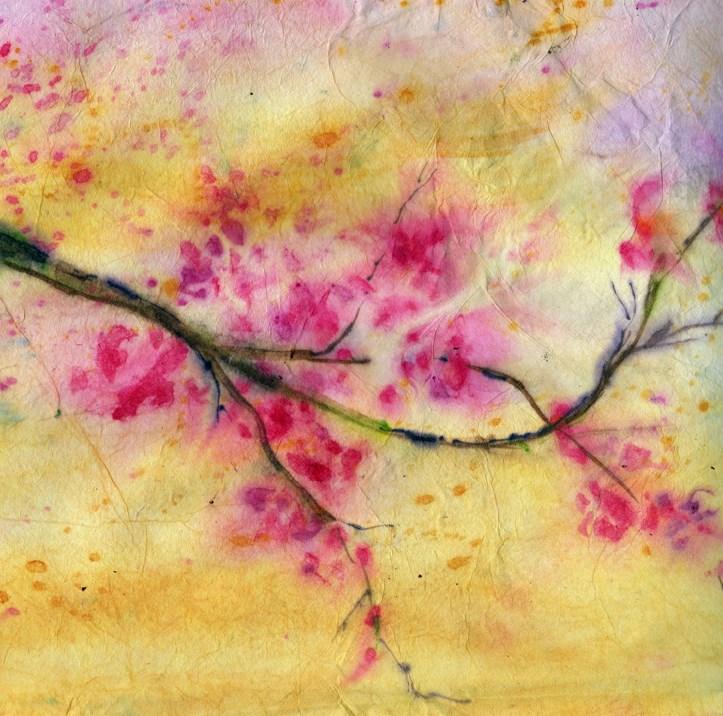 """Cherry Blossoms"" original fine art by Sue Dion"