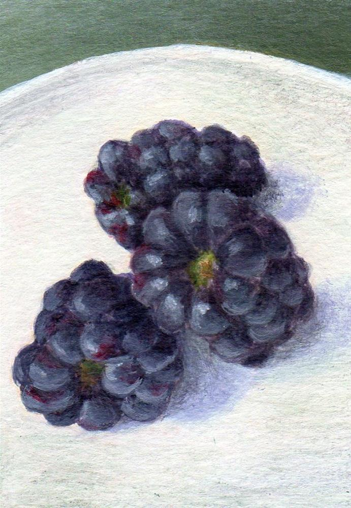 """Bramble Fruit"" original fine art by Debbie Shirley"