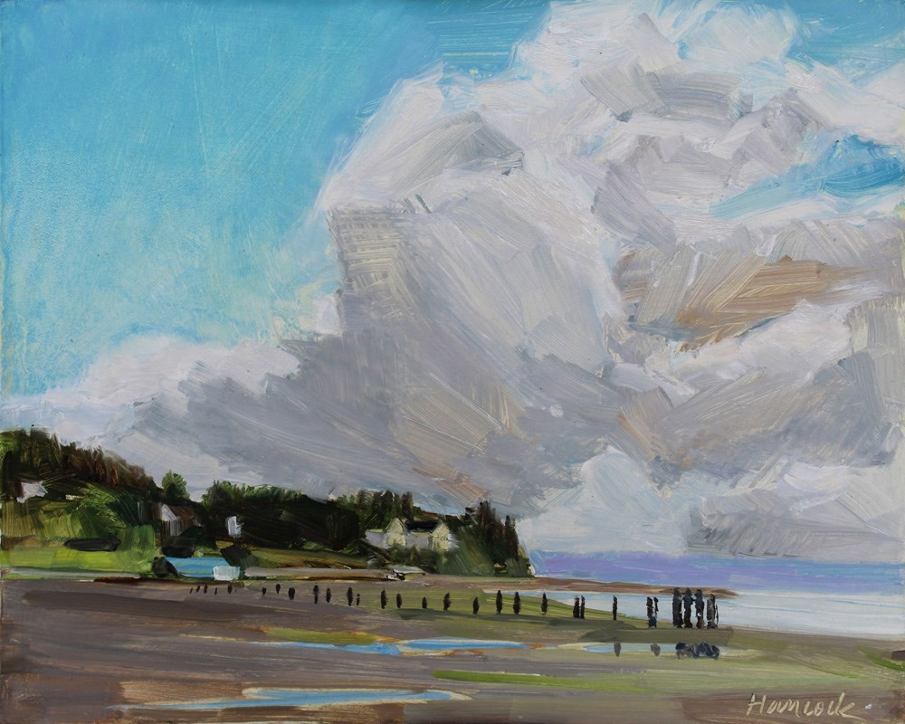 """Ellisport with Clouds"" original fine art by Gretchen Hancock"