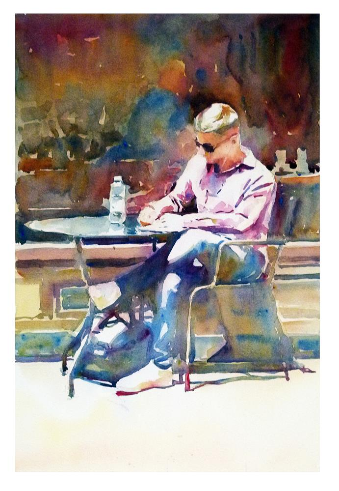 """Coffee shop."" original fine art by Graham Berry"