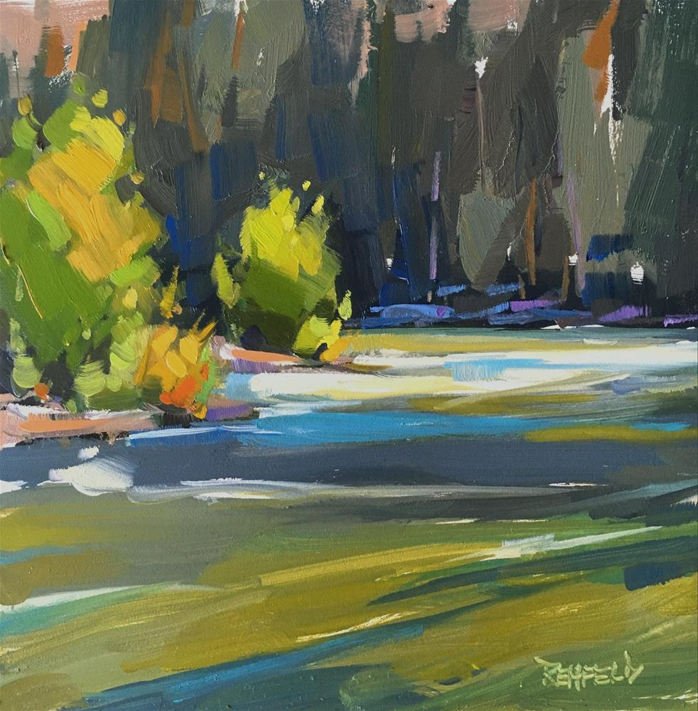 """""""Down In A Canyon"""" original fine art by Cathleen Rehfeld"""