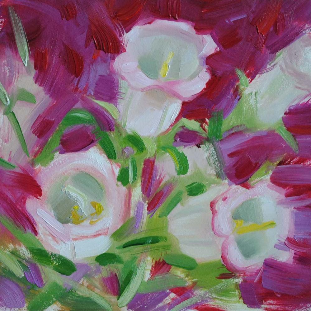 """Bell Flowers Sketch"" original fine art by Elena Katsyura"
