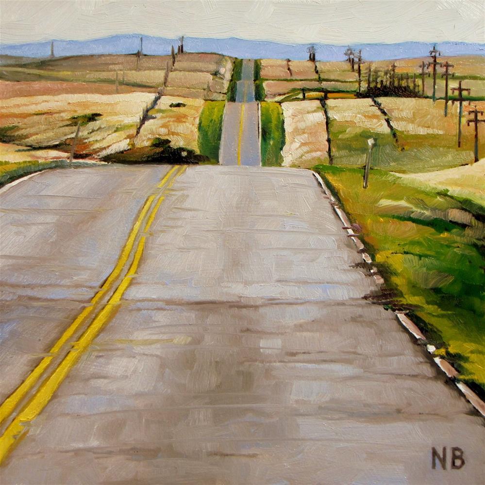 """Head for the Hills"" original fine art by Nora Bergman"