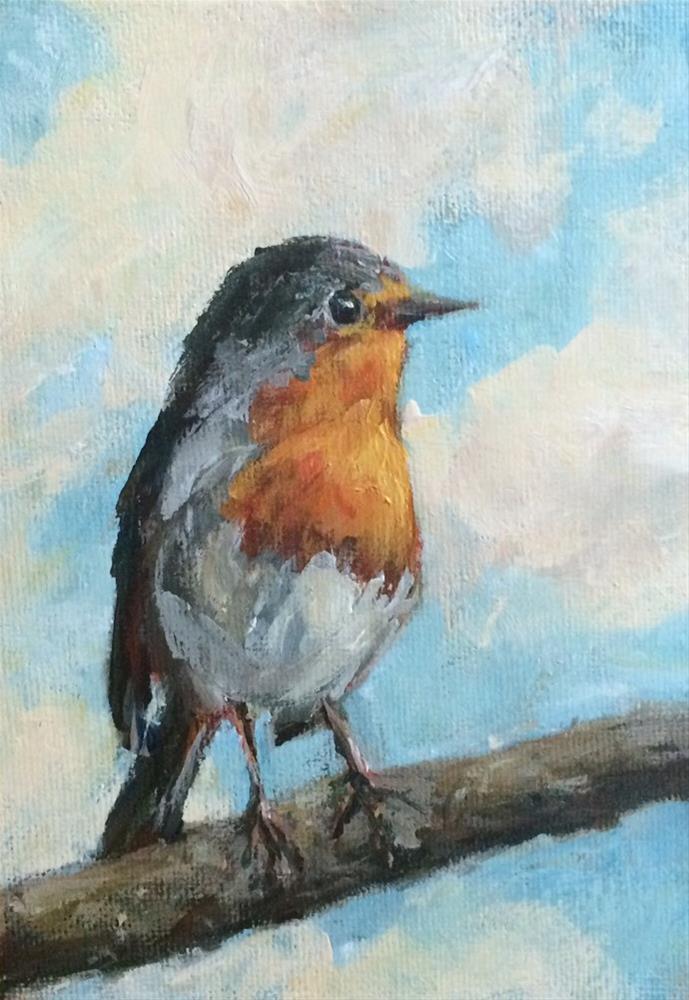 """Little Robin"" original fine art by Shannon Bauer"