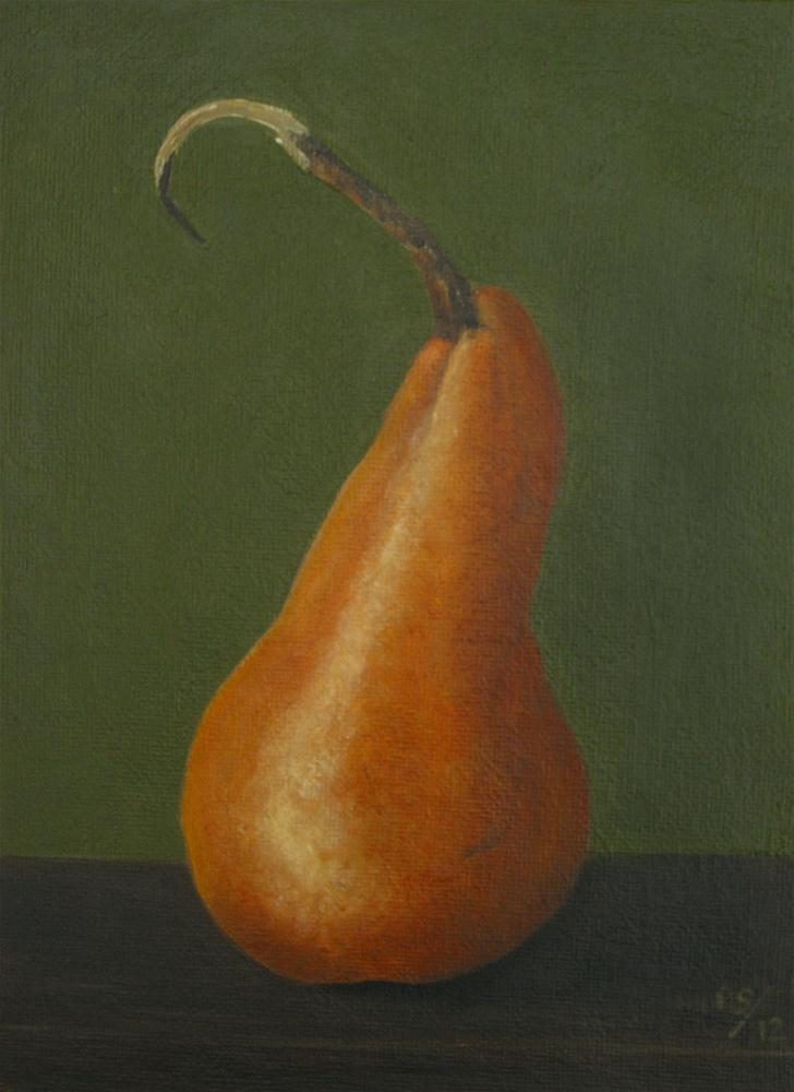 """Beurre bosc Pear II"" original fine art by Pera Schillings"
