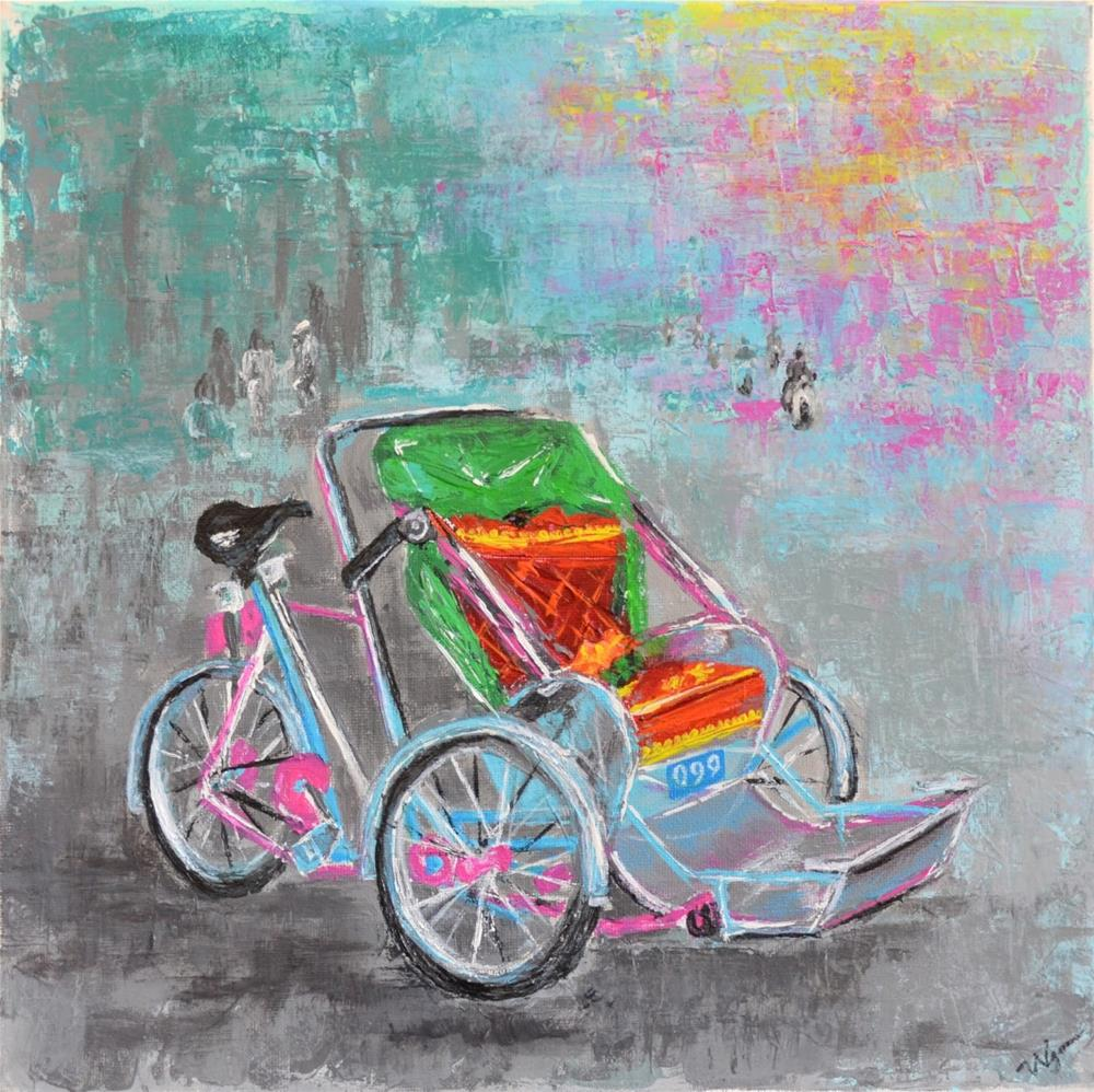 """Cyclo"" original fine art by Vy Ngo"