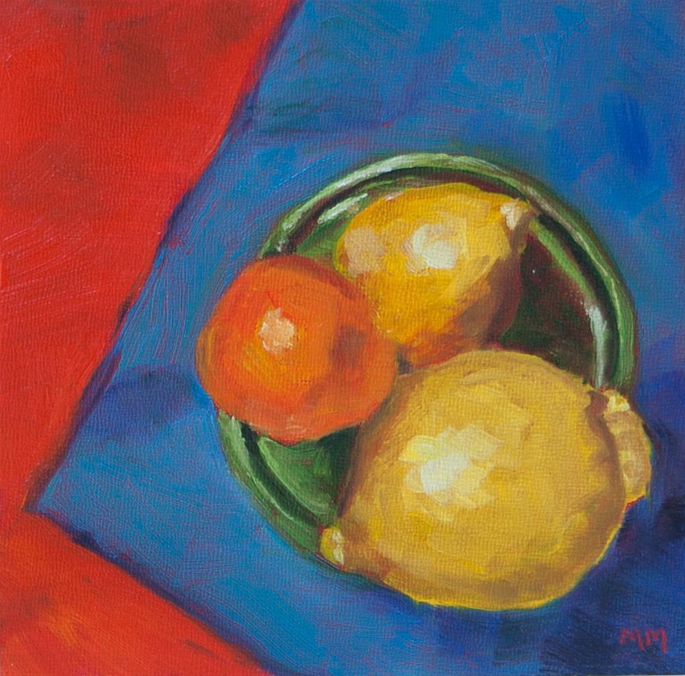 """Tangerine"" original fine art by Maria McNitt"