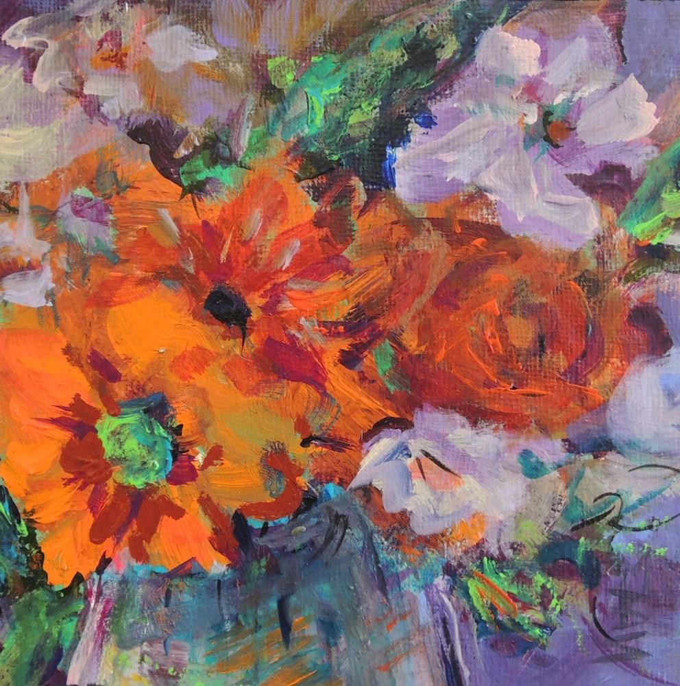"""""""A Burst of Red"""" original fine art by Mary Schiros"""