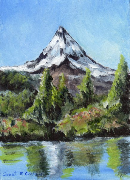 """Mountain Peak ACEO"" original fine art by Janet Graham"