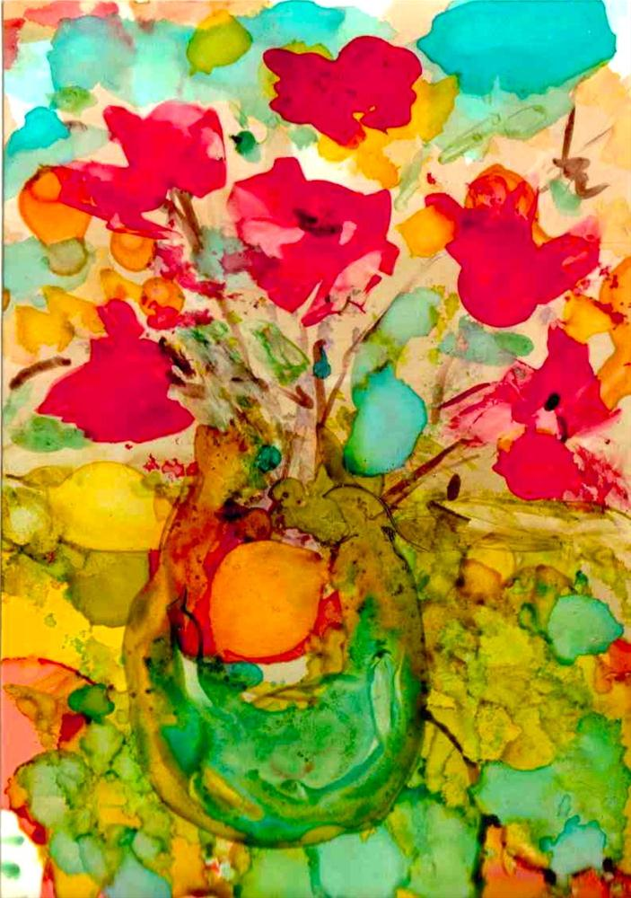 """Bright Bouquet"" original fine art by Kelly Alge"
