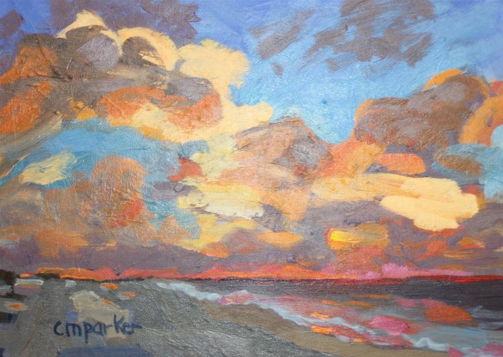 """DPW Sunset Challenge"" original fine art by Christine Parker"