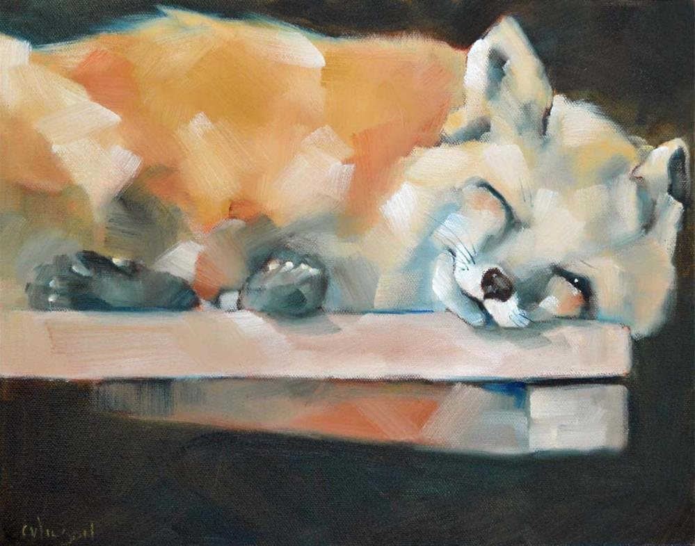 """Winking Fox"" original fine art by Cheryl Wilson"