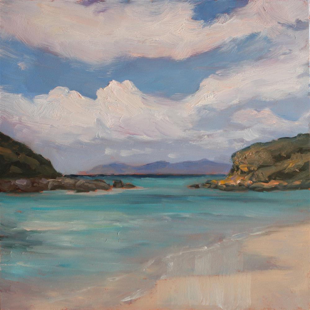 """Cloud Play at Trunk Bay"" original fine art by Claudia L Brookes"