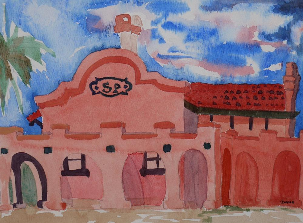 """Davis Train Station"" original fine art by Dana Richards"