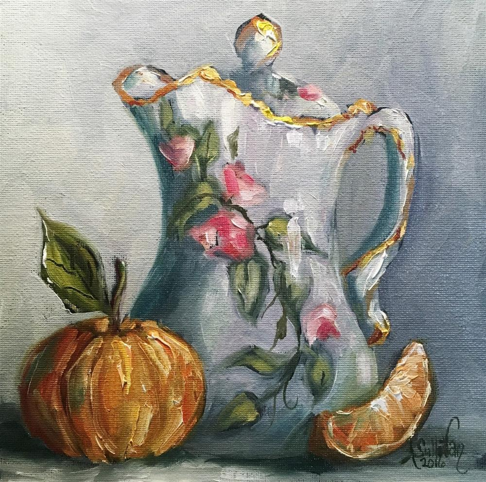 """Morning Blessings still life painting by Alabama Artist Angela Sulivan"" original fine art by Angela Sullivan"