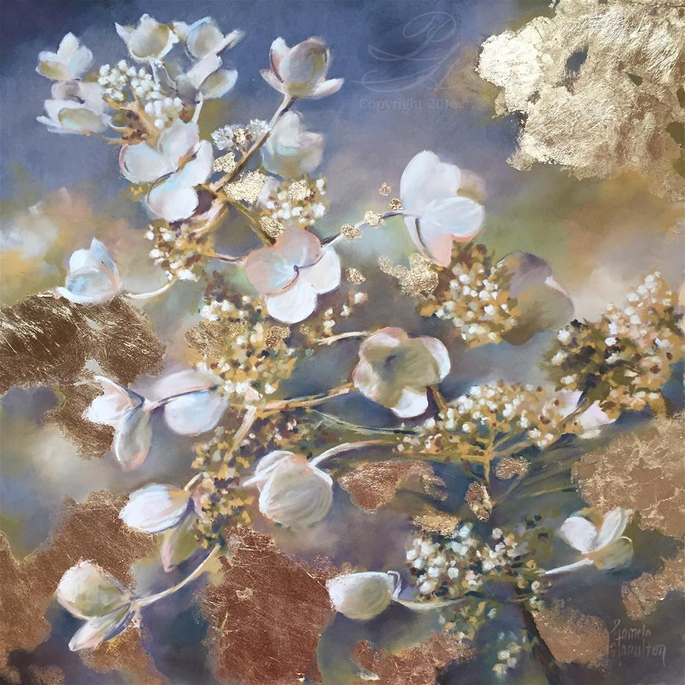 """Gilded Petals"" original fine art by Pamela Hamilton"