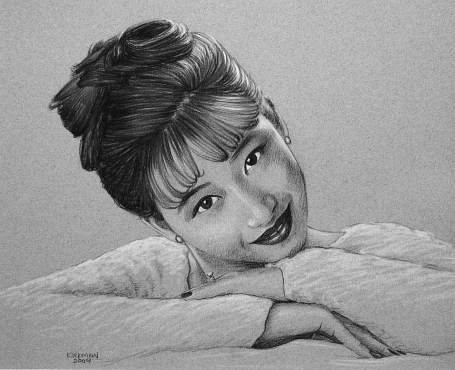 """Portrait of a Young Lady"" original fine art by Rita Kirkman"
