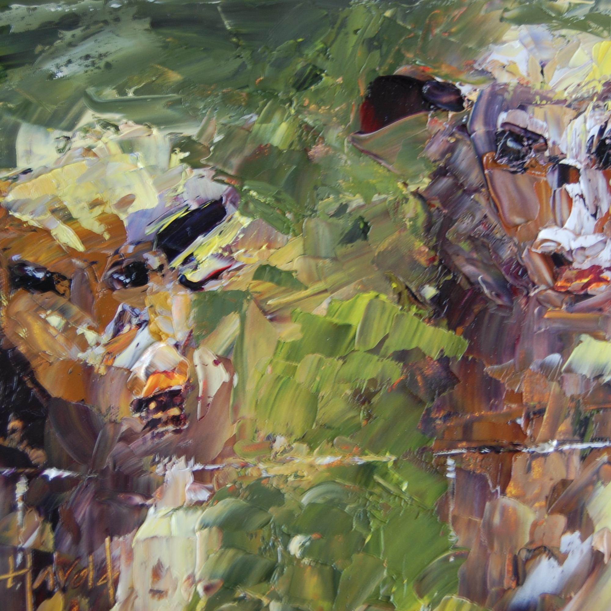 """Got Milk"" original fine art by Deborah Harold"