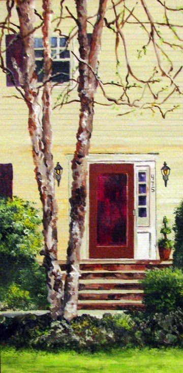 """Door with Tree"" original fine art by Nan Johnson"