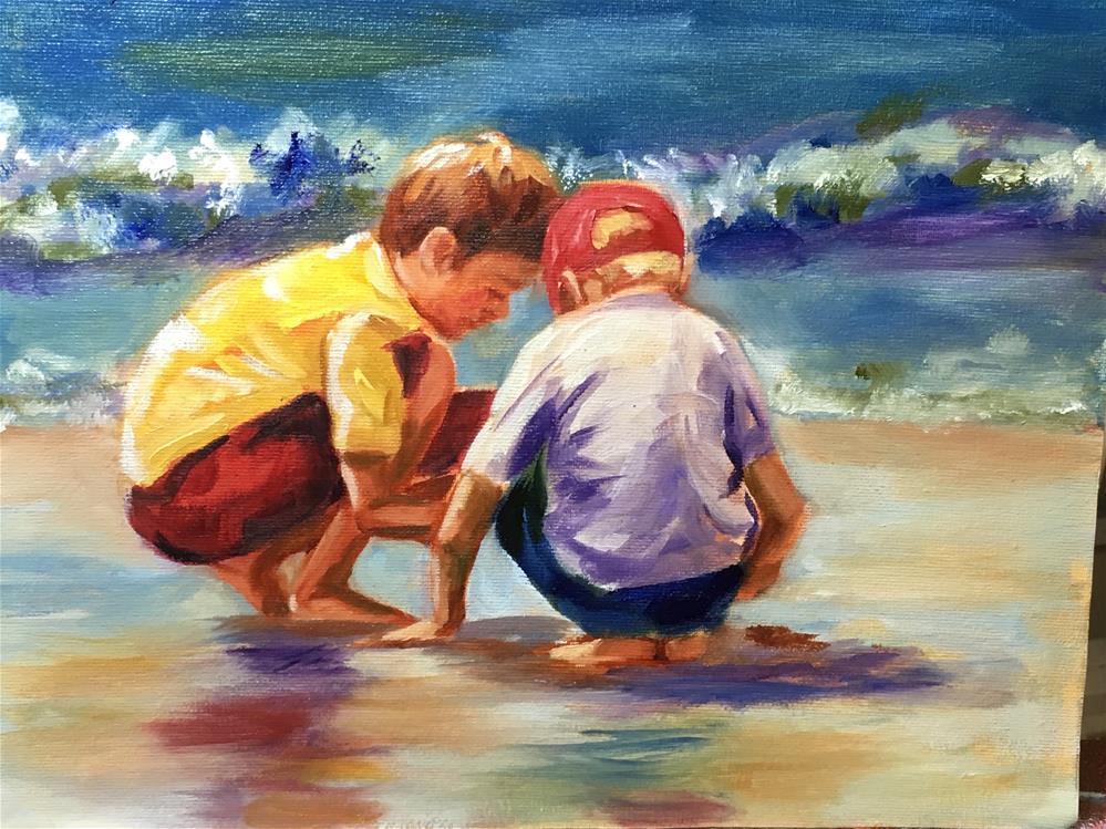 """Beach Buds"" original fine art by Jennifer Koach"