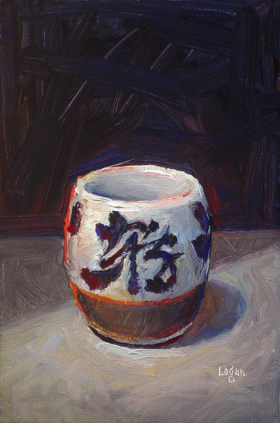 """Sake Cup"" original fine art by Raymond Logan"