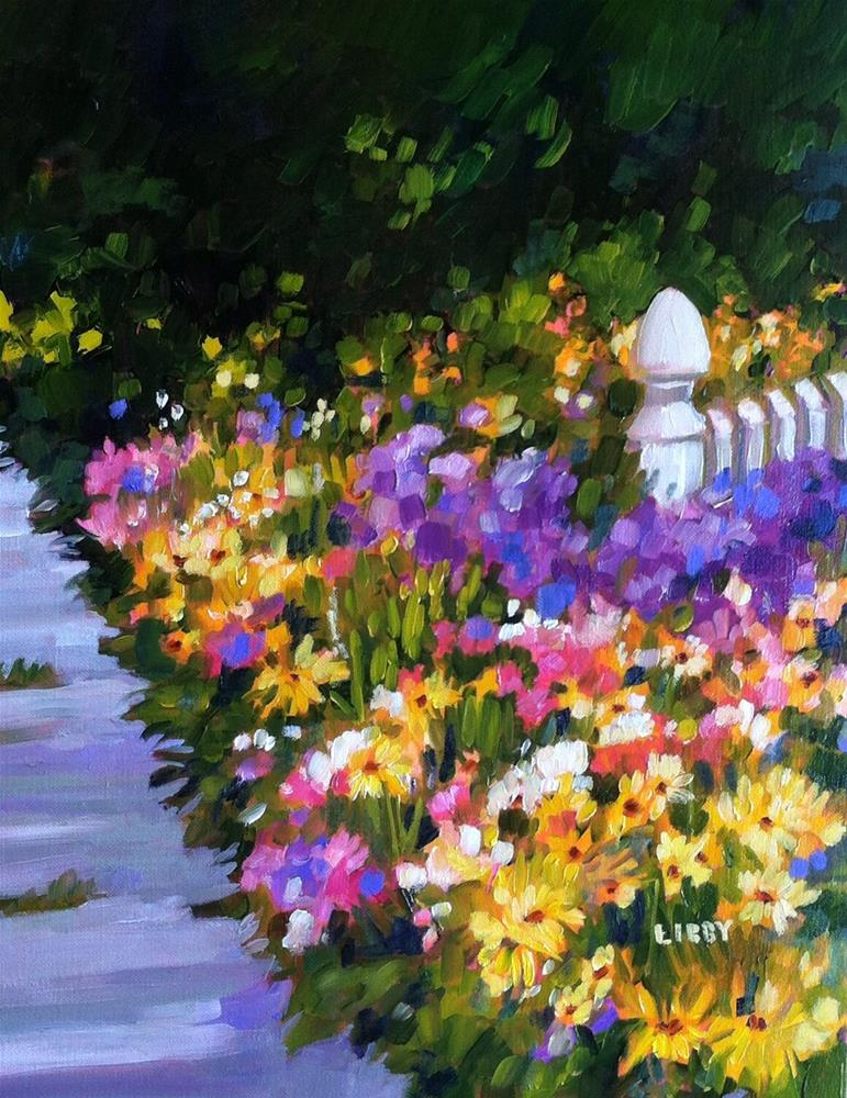 """Deep in the Garden"" original fine art by Libby Anderson"
