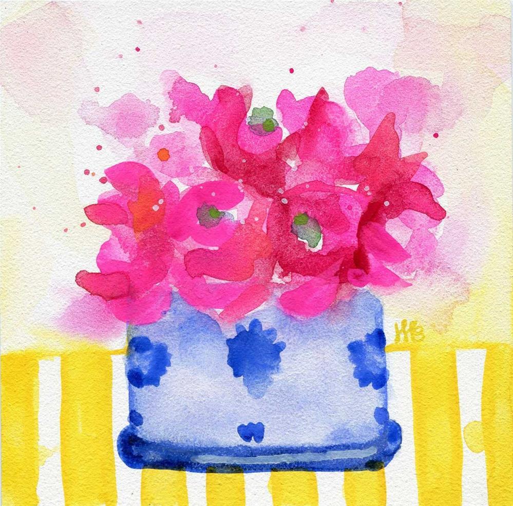 """""""Shopping List"""" original fine art by Heather Bennett"""