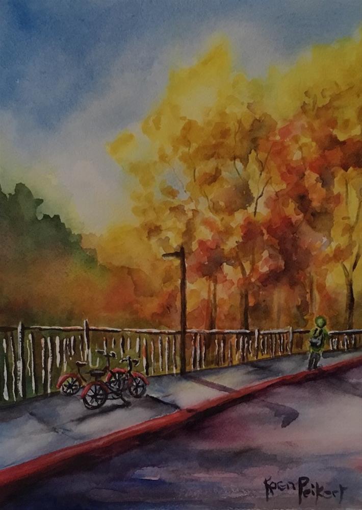 """Changing of the Leaves"" original fine art by Karen Peikert"