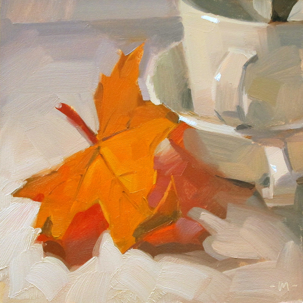 """Just Leafing"" original fine art by Carol Marine"
