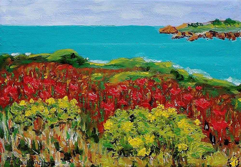 """Sonoma Coast with Widflowers"" original fine art by Mike Caitham"
