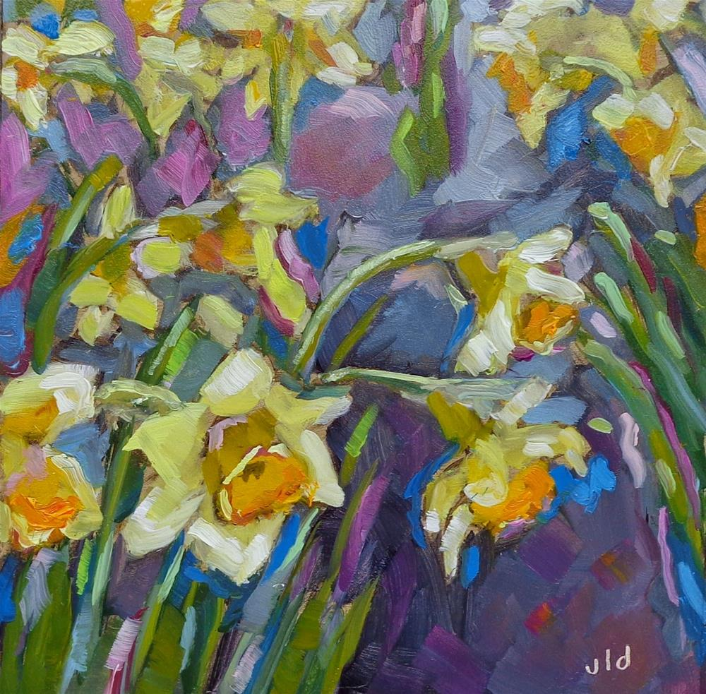 """Daffodils"" original fine art by Jean Delaney"