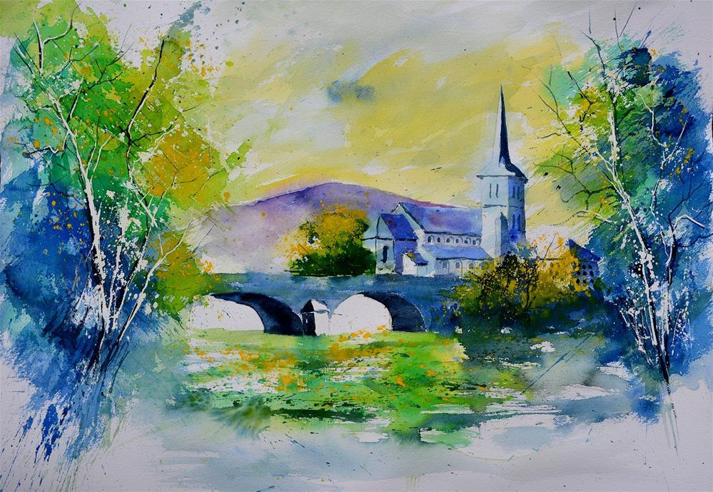 """watercolor 68613022"" original fine art by Pol Ledent"