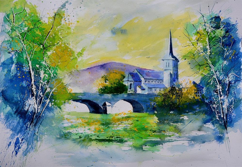 """""""watercolor 68613022"""" original fine art by Pol Ledent"""
