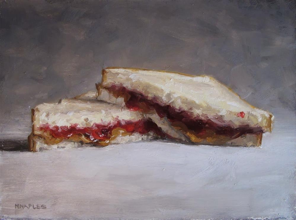 """Stacked PB&J"" original fine art by Michael Naples"