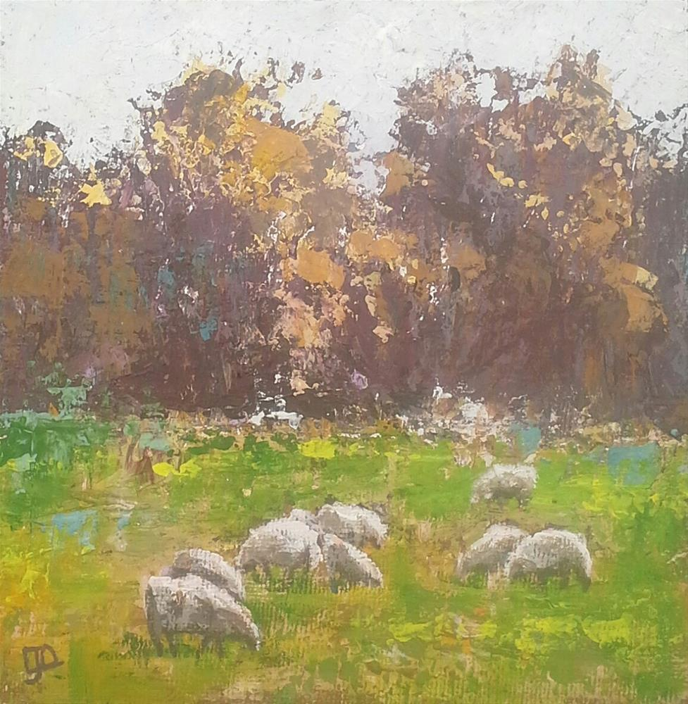 """Grazing"" original fine art by Leanne Owen"