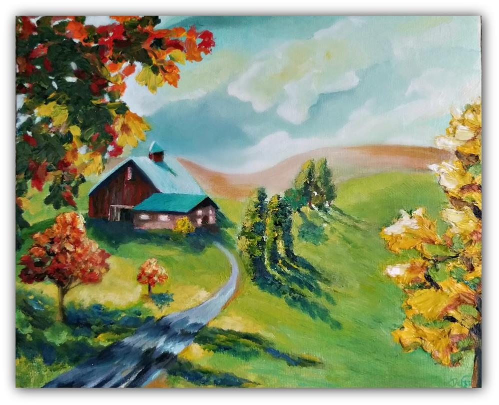 """Autumn's Light"" original fine art by Dana C"