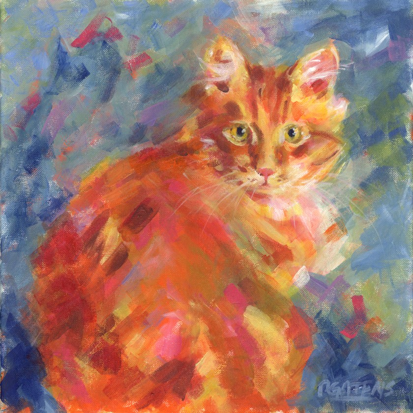 """Orange Marmalade"" original fine art by Pamela Gatens"
