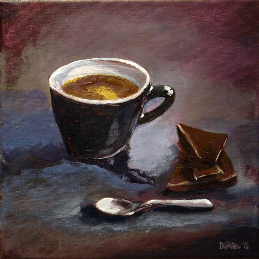 """0658 Coffee and Chocolate"" original fine art by Dietmar Stiller"