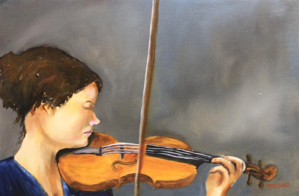 """Woman Playing Violin"" original fine art by Daniel Varney"