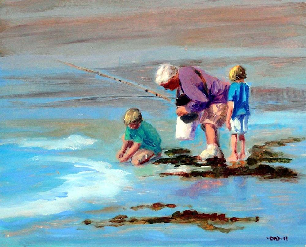 """Fishing With Grampa"" original fine art by Cietha Wilson"