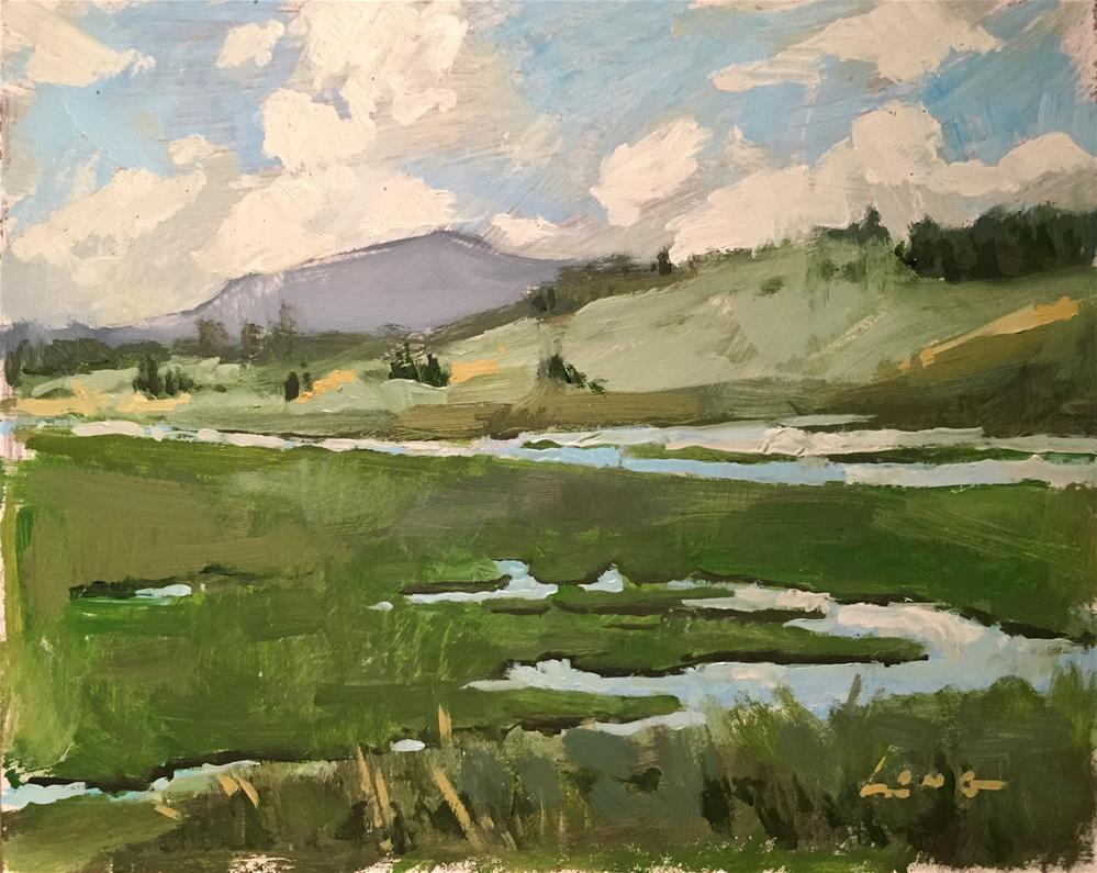 """Near Yellowstone"" original fine art by Chris Long"