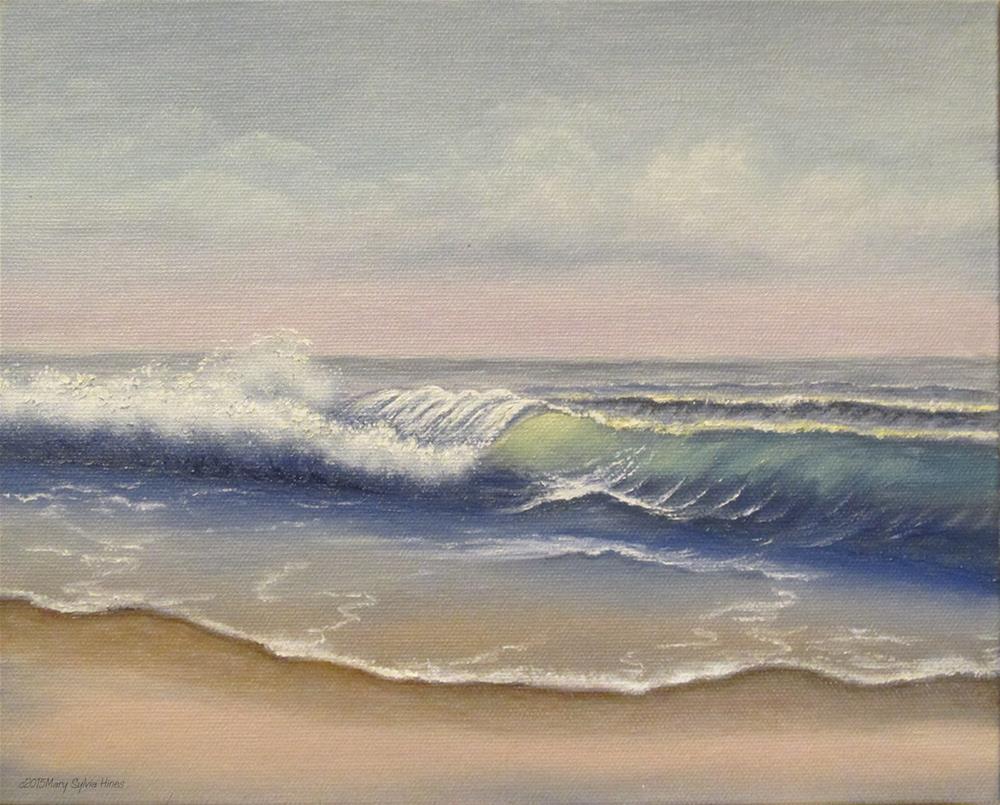 """Seascape 06"" original fine art by Mary Sylvia Hines"
