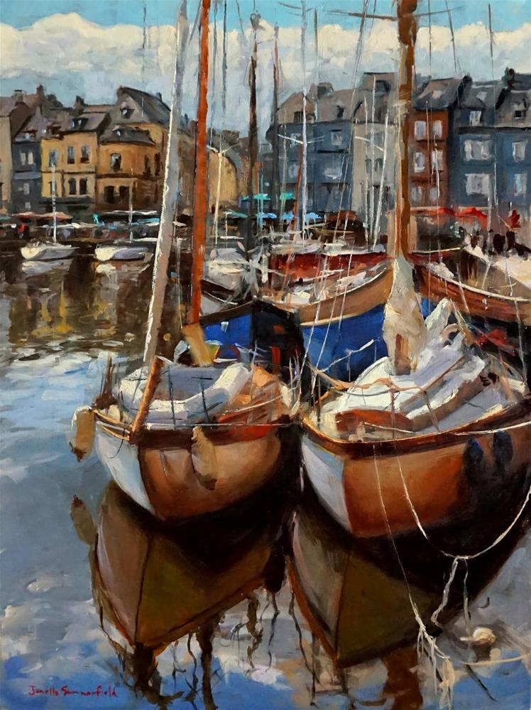 """Docked in Honfleur"" original fine art by Jonelle Summerfield"