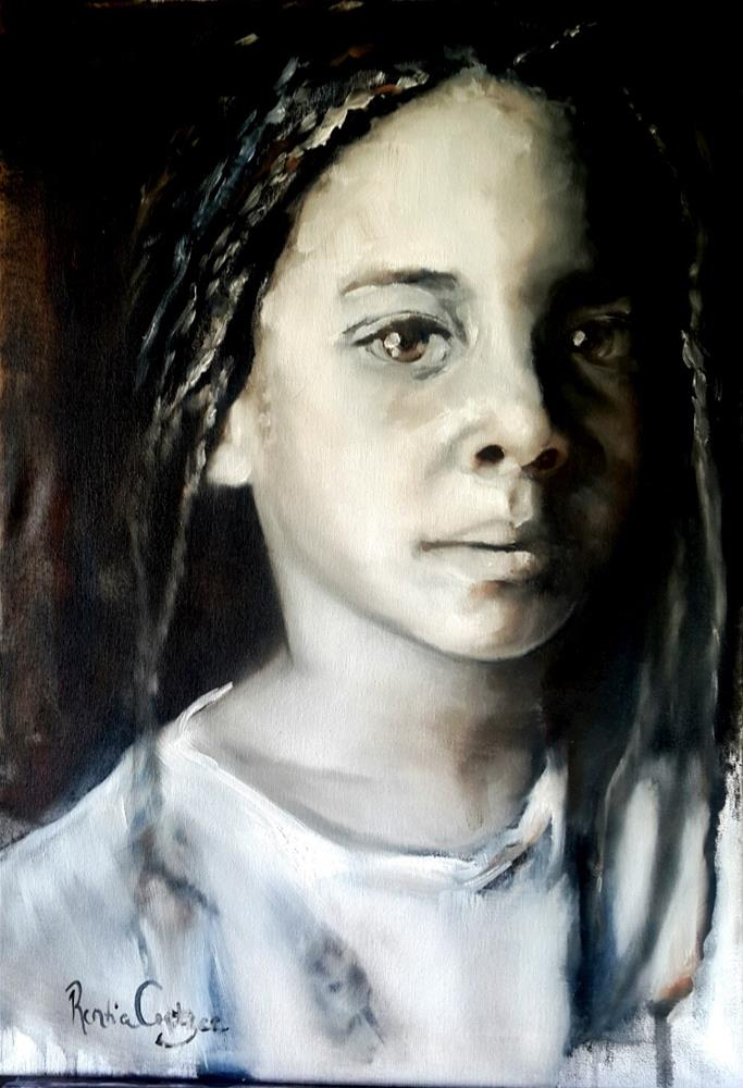 """Little Transkei queen"" original fine art by Rentia Coetzee"