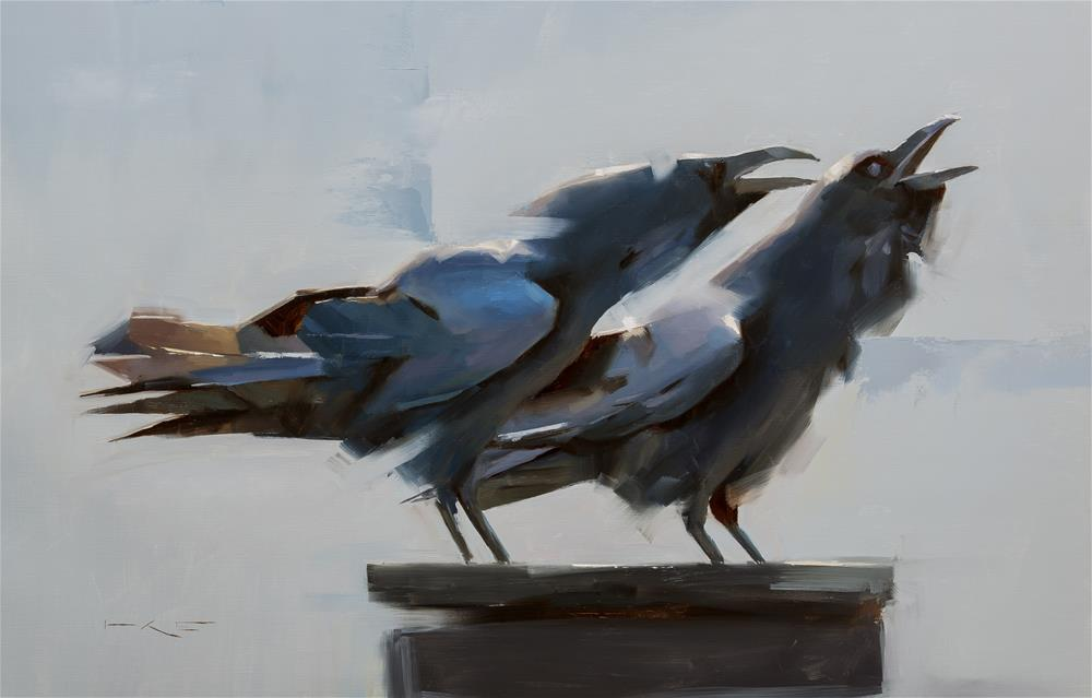 """Two Ravens"" original fine art by Thorgrimur Andri Einarsson"