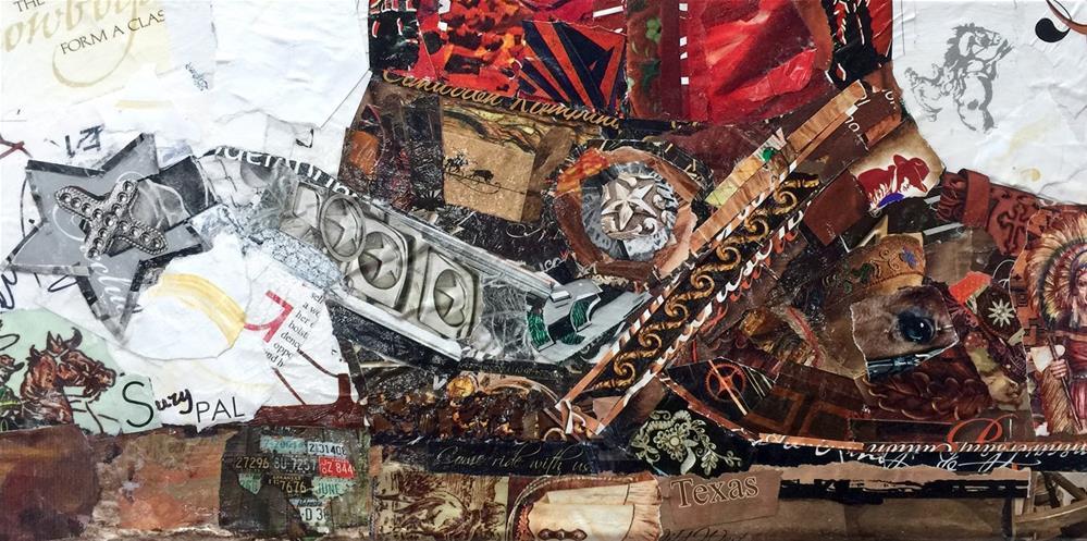 """""""Cowboys Form a Class"""" original fine art by Suzy 'Pal' Powell"""