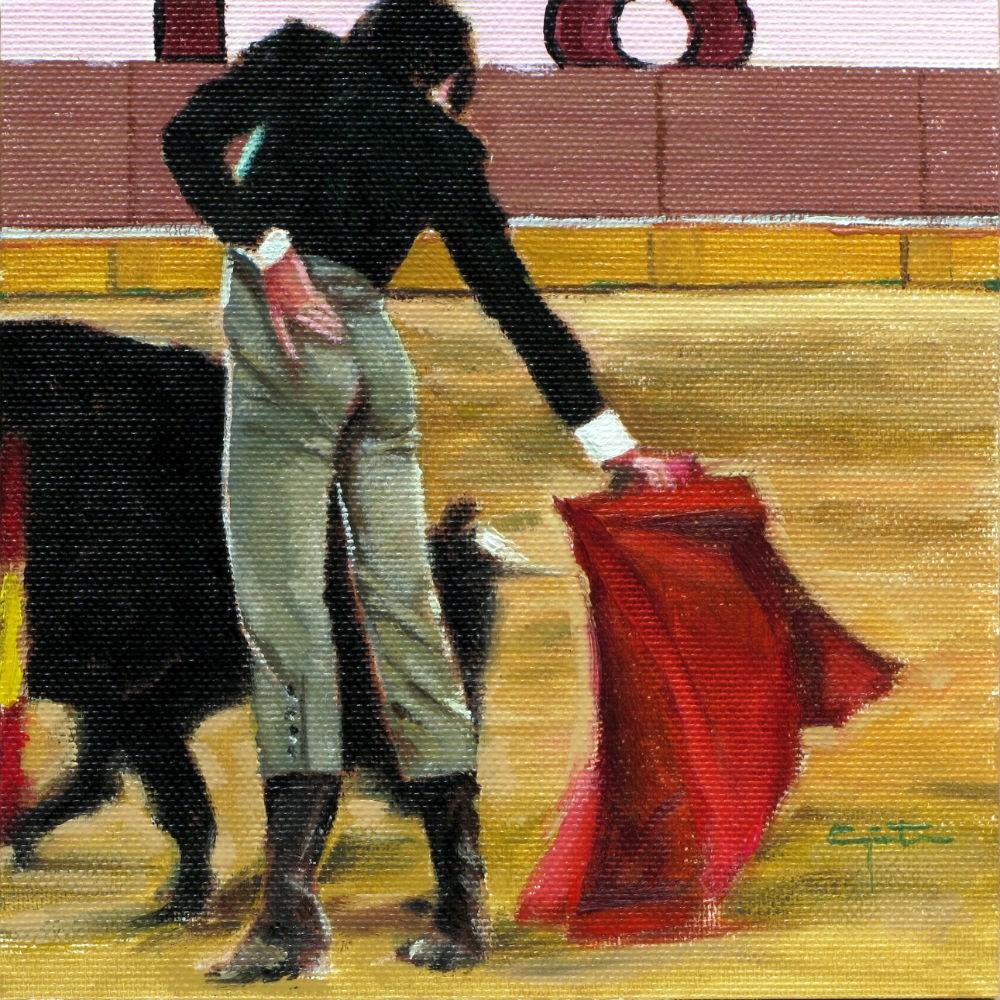 """""""Lance clásico"""" original fine art by Eduardo Carpintero"""