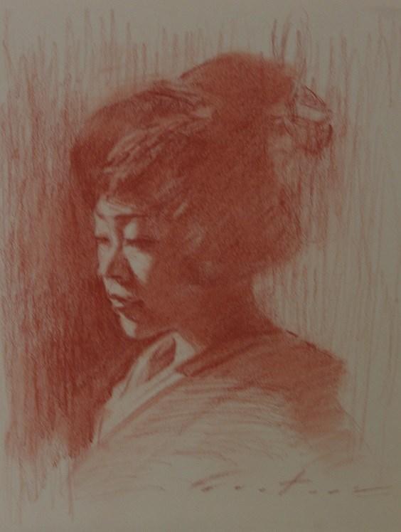 """""""Sanguine Geisha"""" original fine art by Phil Couture"""