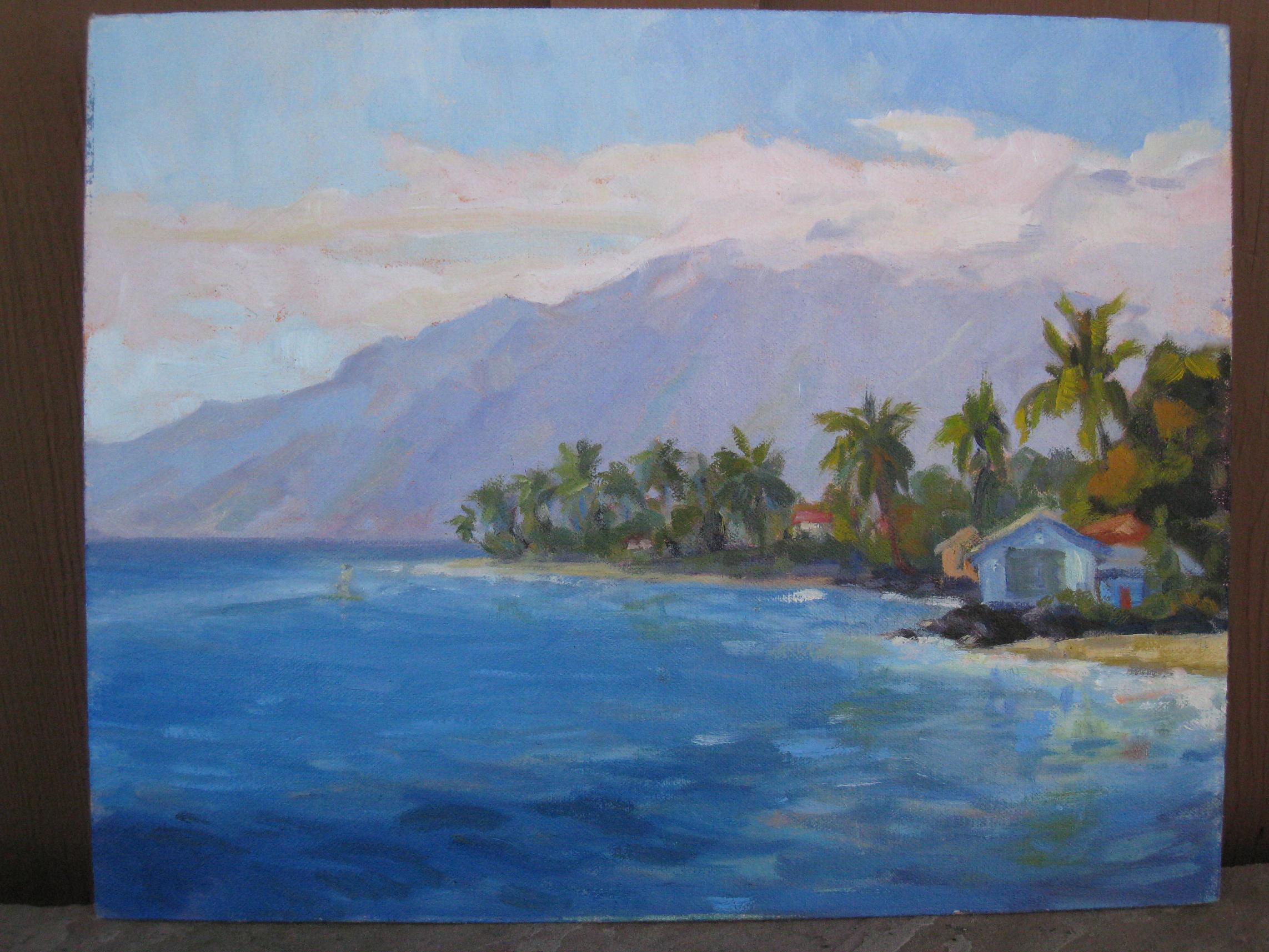 """Aloha Hawaii"" original fine art by Leigh Alexandra Sparks"